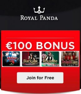 live casino bonus at royal panda