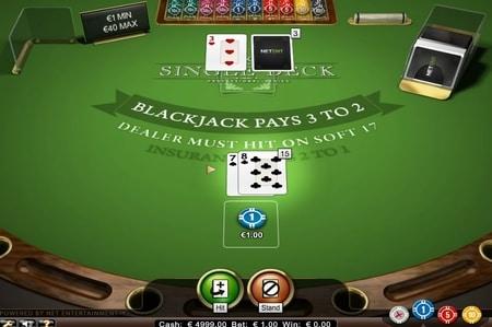 Single Deck Blackjack live