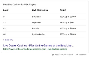 best live casinos online google